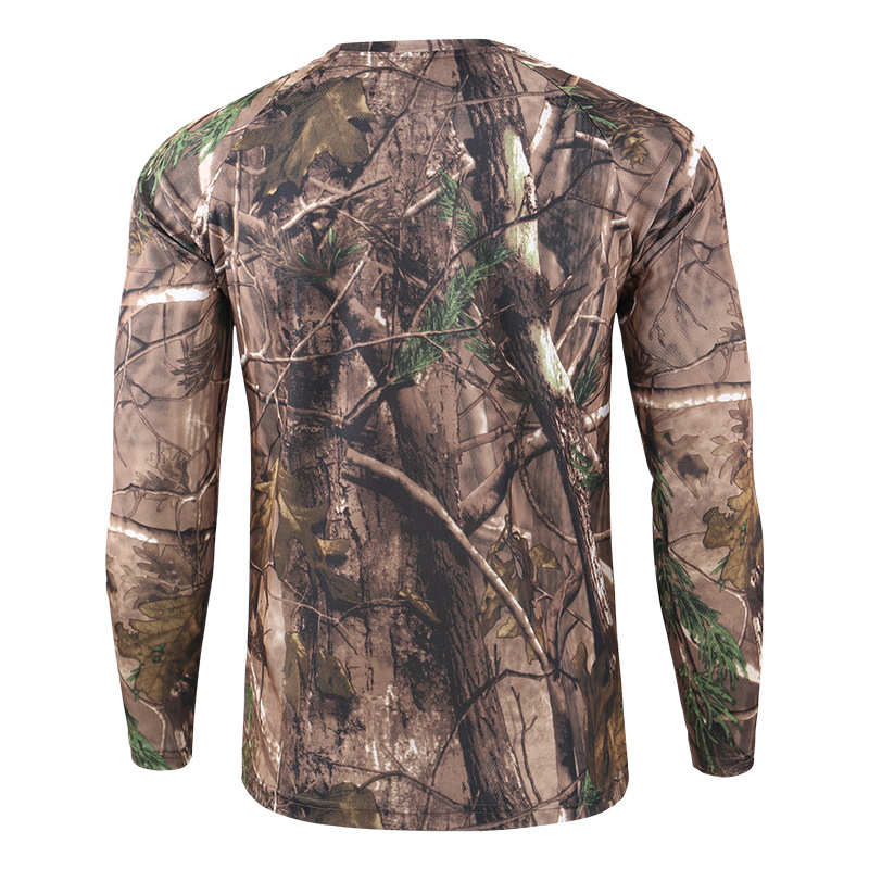 Mannen Quick Dry Tactische Camouflage T shirt Ademend Casual O hals Met Lange Mouwen Militaire Overhemd Combat Camo Leger T Shirts S 3XL - 4