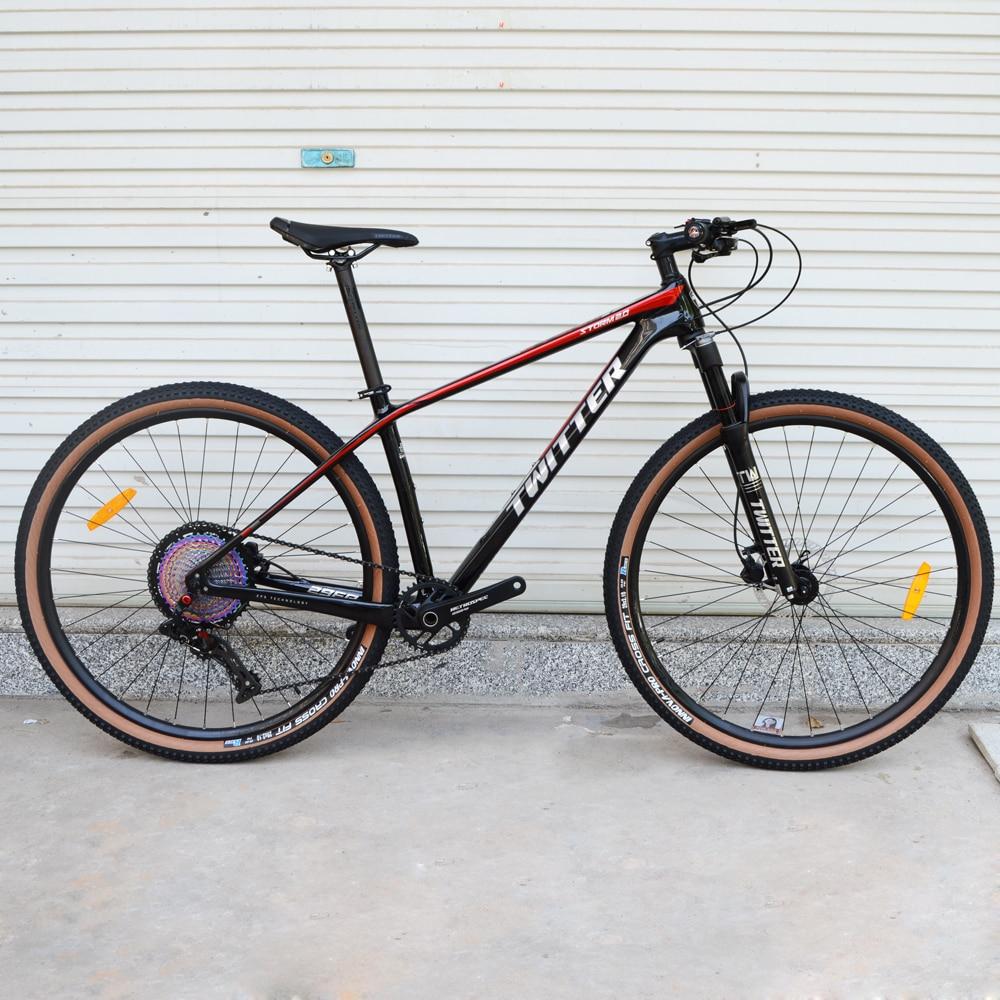 TWITTER-Bicicleta de Montaña de carbono, 27,5/29 pulgadas, 13 velocidades, TEKTRO, freno de disco hidráulico, mtb