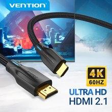 Kabel HDMI Vention HDMI 2.1 kabel 8K @ 60Hz 4K @ 120Hz 48 gb/s dla PS4 przystawka Mi TV Box kabel cyfrowy HDR rozdzielacz HDMI 8K HDMI 2.1