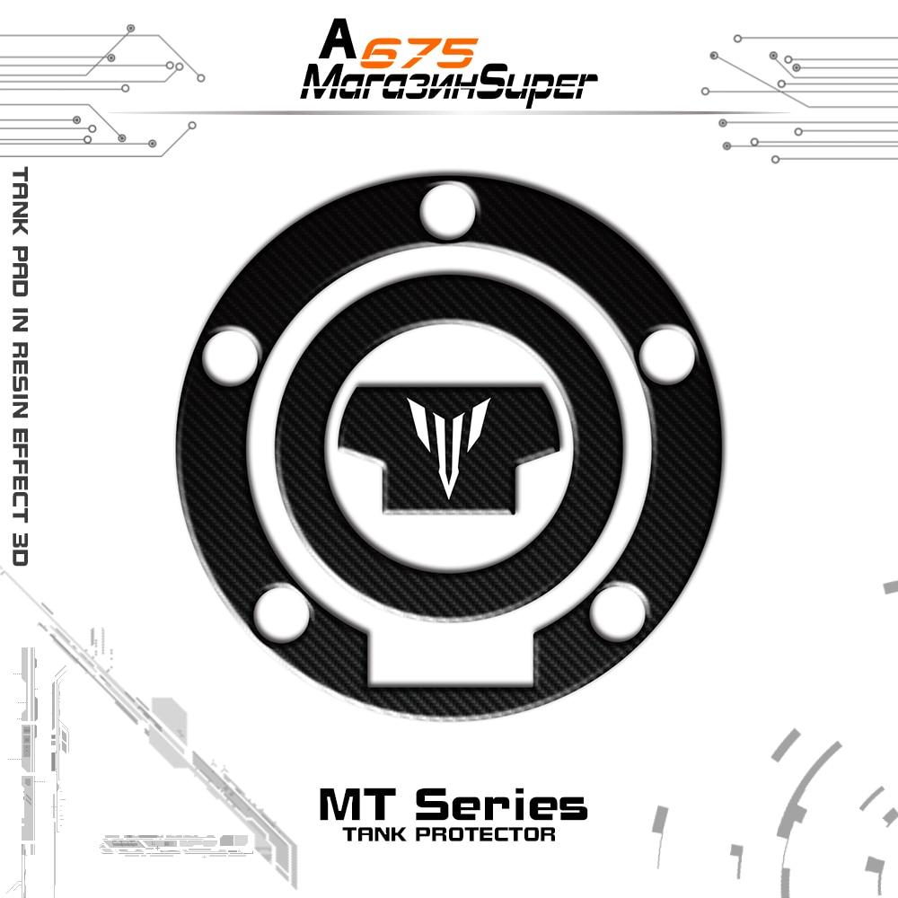 2 COLOR Decal Fuel Tank Cap Sticker Protector 3D Carbon Fiber Reflective For YAMAHA MT MT-07 MT-09 MT07 MT09 FZ-07 FZ-09