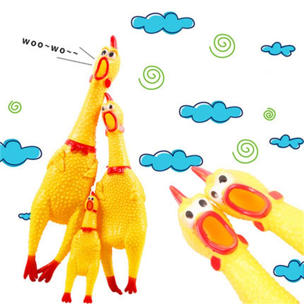 Funny Design Non-Toxic Screaming Rubber Chicken Squeeze Toys Sound Toy Children Adult Stree Relief Shrilling Chicken Toys
