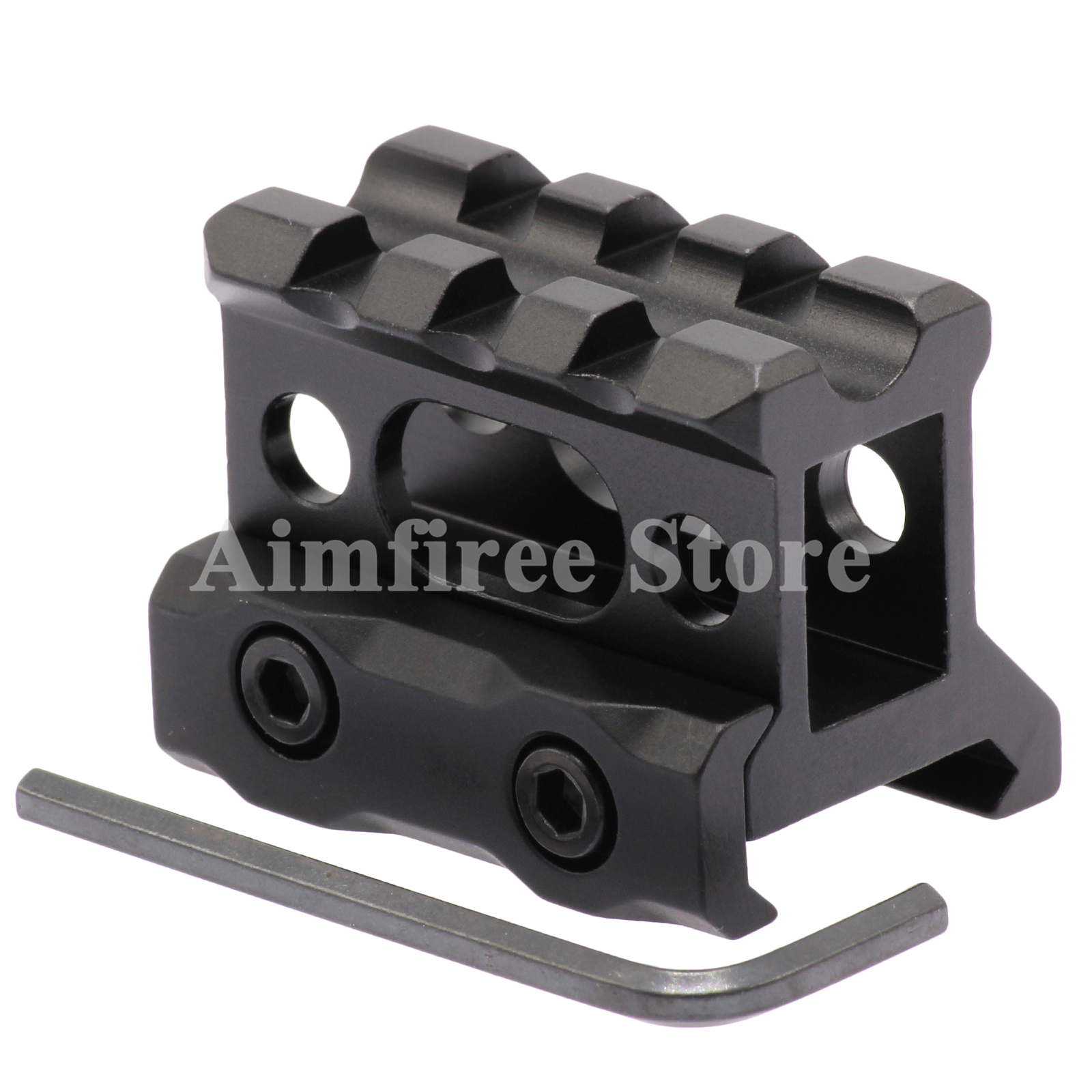Tactical Quick Release Scope Riser Mount 20mm Picatinny QD Scope Rail Mount Middle Profile 3 Slots For Hunting