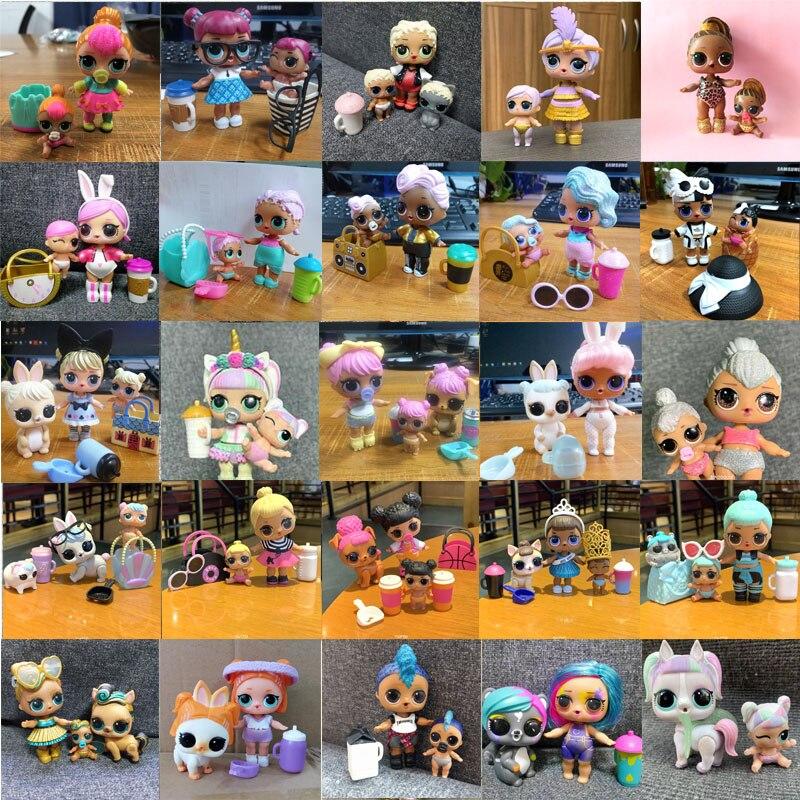 L.O.L. Сюрприз! Куклы из серии «LOL Surprise» Единорог Luxe Китти Queen панк Boi брызги с Lil Сестра семья игрушки для девочек подарок на день рождения