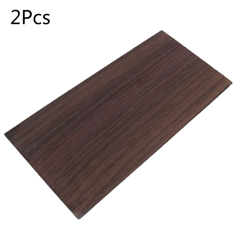 2 Pcs/set Rosewood Makeup Board Acoustic Folk Guitar Head Patch Sheets Veneer Parts