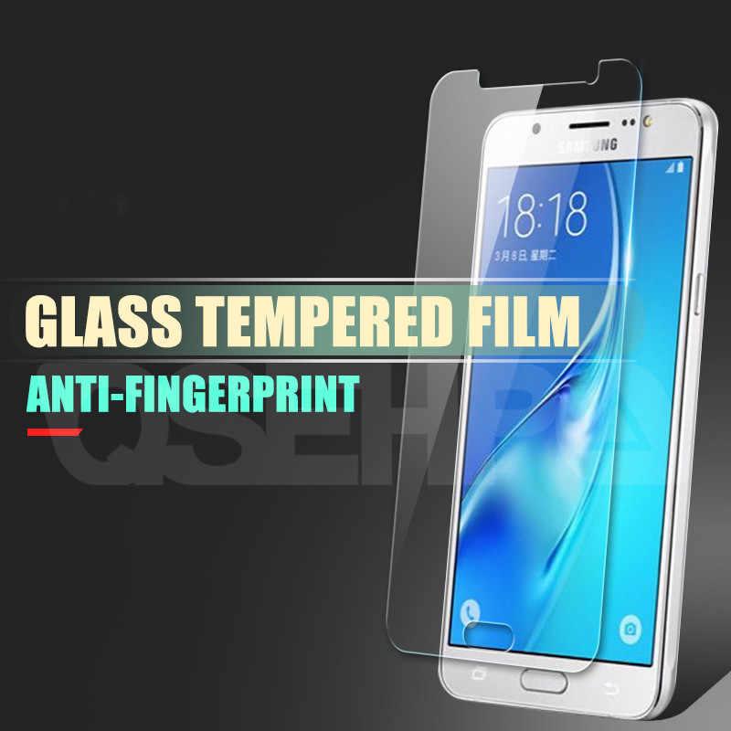 زجاج واقي لسامسونج غالاكسي A3 A5 A7 J3 J5 J7 2015 2016 2017 A6 A8 زائد A9 2018 المقسى واقي للشاشة زجاج عليه طبقة غشاء رقيقة