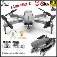 WLRC L106 PRO2 FPV Drone GPS 4k profesional Cámara Dual de HD 2-eje Motor de cardán sin escobillas 26 minutos de distancia 1,2 km de Avión Rc Juguetes