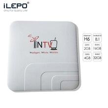 ILEPO INTV Android Tv Box  Iptv Subscription Allwinner H6 Ubox M3u 8.1/9.0 Streaming Evpad