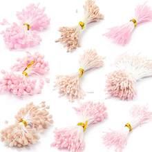 Romantik pembe renk sanatsal çiçek serisi gül ercik 1mm/3mm/5mm kek dekorasyon/el sanatları/naylon çiçek DIY hediye aksesuarları