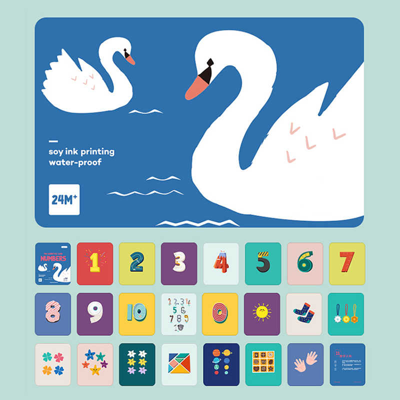 Juguetes Beiens Montessori, paquete de 6 fotos de bebé, tarjeta Flash para niños, Juguetes Educativos de aprendizaje preescolar, tarjetas cognitivas Flash para niños, Serie 6
