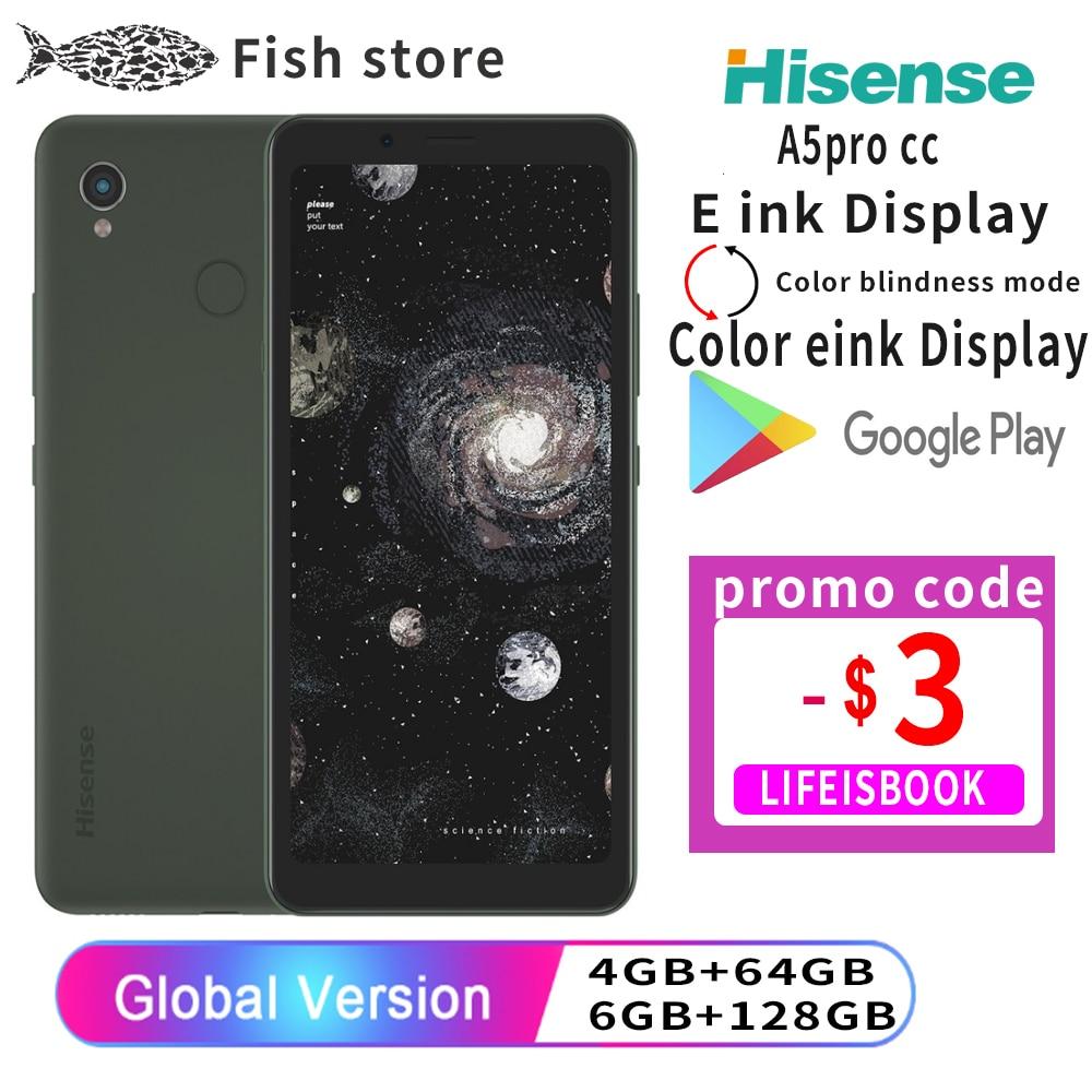 Google play Hisense A5 ProCC английский телефон Eink дисплей Android 10 5,84