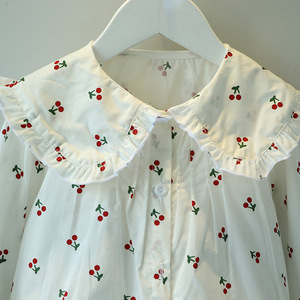 Image 5 - VFOCHI 2020 New Girls Blouse Kids Tops Ruffled Collar Girls Long Sleeve Shirt Children Wedding Clothing Baby Girl Top Tee Shirts