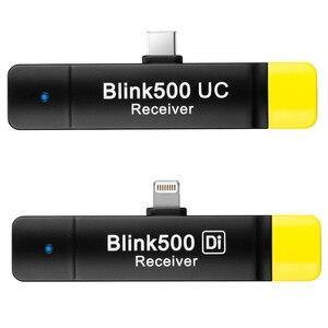 Image 4 - Saramonic Blink500 2.4GHz Çift Kanallı Kablosuz Mikrofon Sistemi ile Yaka Youtube röportaj Vlog Mic Kameralı cep Telefonları Için