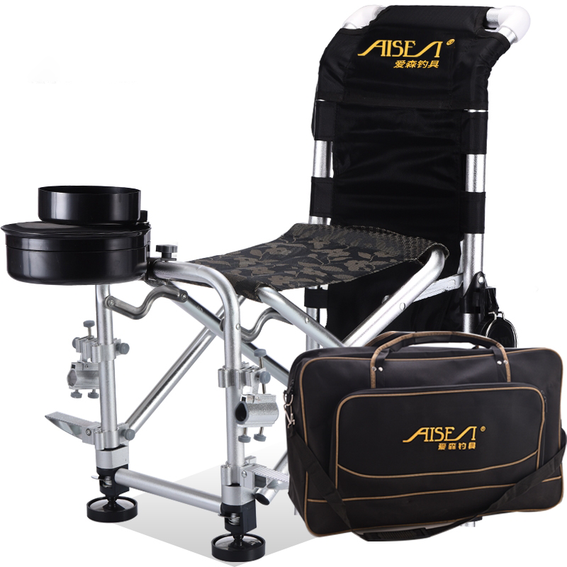 New Multi-function Portable Fishing Chair All Terrain Reclining Fishing Chair Fishing Chair Folding Fishing Stool