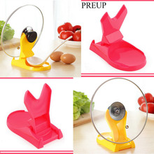 PREUP Organizer Spoon Rack Rest Pot Pan Lid Rack Stand Holder Kitchen Cooking Utensil Tool Storage Holder Rack