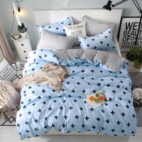 Home Textile Blue cartoon Duvet Cover Bed Sheet Pillowcase Boy Childs Teenage Girl Bedding Set Twin Full king queen quilt cover