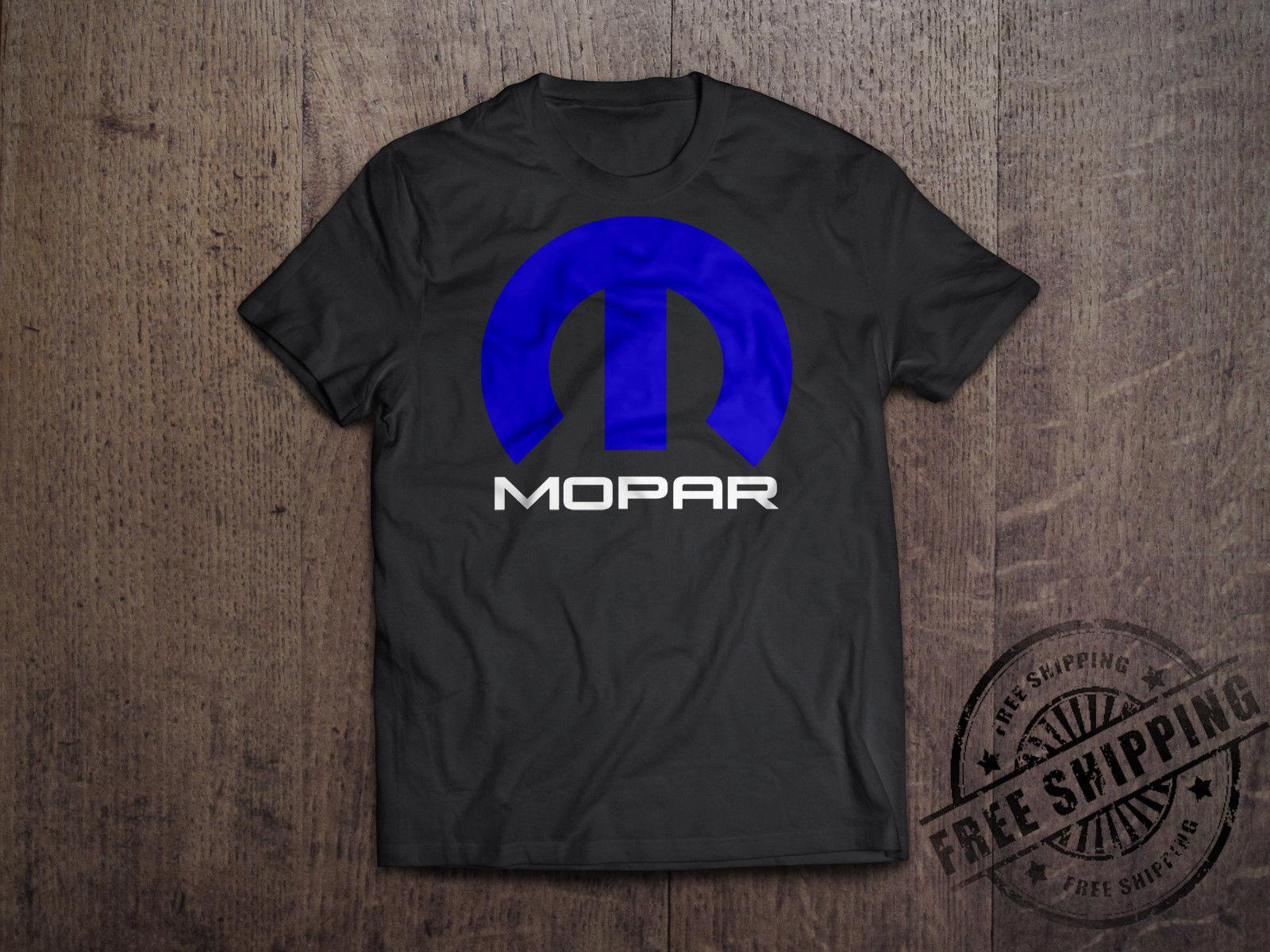Mopar Dodge Chrysler T Shirt Hemi Ram Truck Race Mens Tee Retro Black