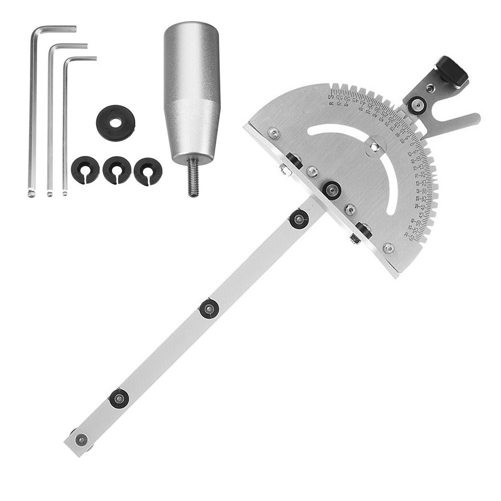 Aluminum Table Saw Miter Gauge Router Sawing Ruler Assembly Repair Tool Set