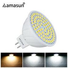 Mr16 gu5.3 ac220v 110 v dc 12 v lâmpada, 2835smd 36/54/72 leds, holofote, luz de led mr16 4 w 6 w 8 w para sala de estar