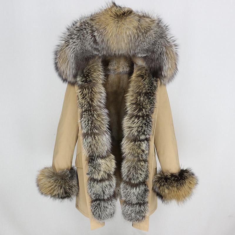 OFTBUY Waterproof Long Parka Winter Jacket Women Real Fur Coat Natural Fox Fur Collar Hood Thick Warm Streetwear Detachable New 39