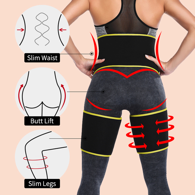 Men's Body Shaper Sauna Waist Trainer Corset Sweat Belt Thigh Slimmer Weight Loss Abdomen Shapewear Belly Leg Shapers Fitness 1