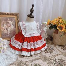 12M,2T,3T,4T,5T,6T,8T,10T Spanish Lolita princess dress lace