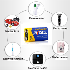 Image 5 - PKCELL batería Extra resistente de carbono de Zinc, 9 V, 6F22, igual a CR9V, ER9V, 6LR61, para termo electrónico, 4 Uds.