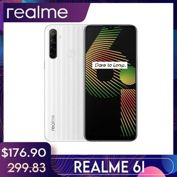 Перейти на Алиэкспресс и купить Realme 6i глобальная Версия Мобильный телефон 4/ 128GB штепсельная вилка европейского стандарта, Процессор MTK Helio G80 5000 мА/ч, Dewdrop Дисплей 6,5 смартфон