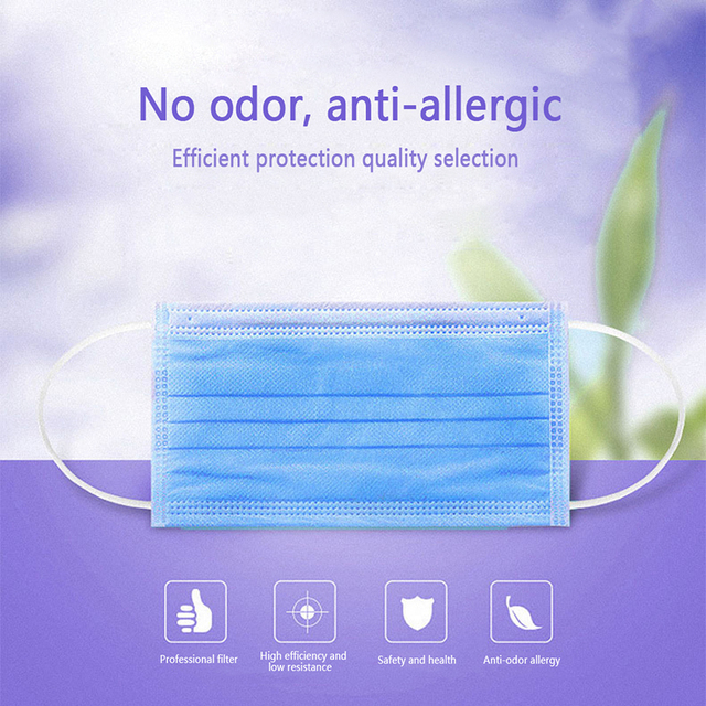 1PC Disposable Anti Dust Face Masks PM2.5 Anti Flu Breathable Safety Non-woven Fabrics Masks 1