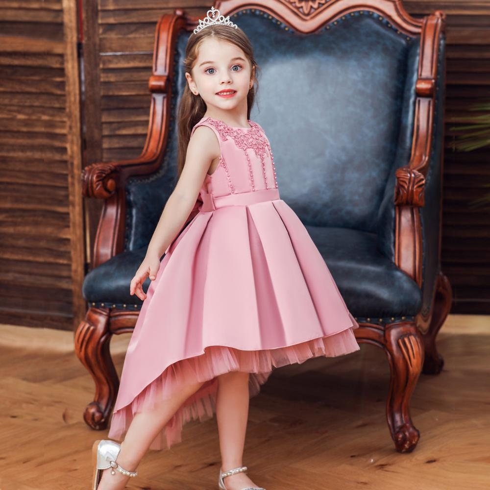 CAILENI 2019 New Children Piano Show Trailing Frock Kid Girls Princess Dress Christmas Party Dress For 6M-8Y Wedding Dresses