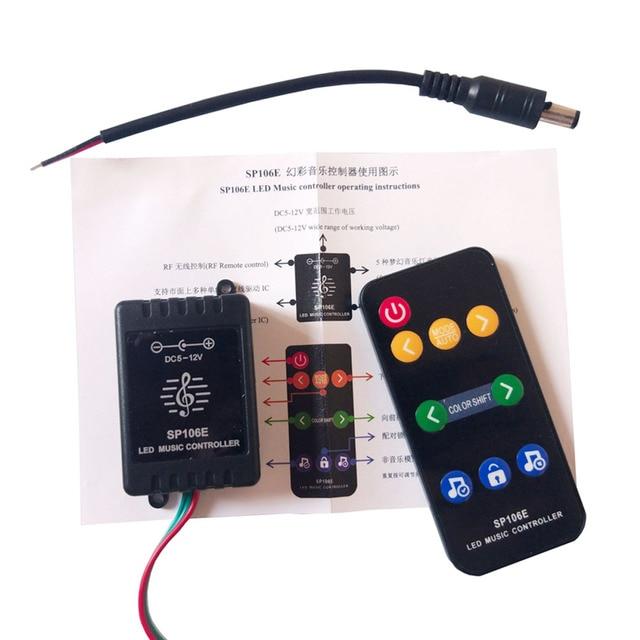 SP106E RGB Led bande contrôleur de musique WS2811 /WS2812B /SK6812 magique Led bande numérique coloré contrôleur de musique DC5-12V