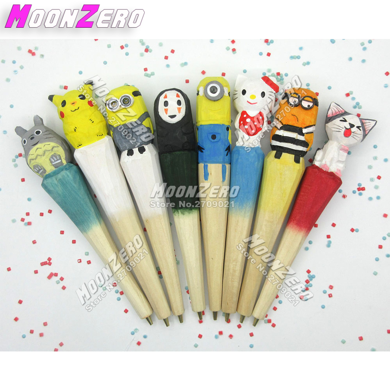 Cute Cartoon Character Woodcarving Pen Professional Diamond Painting Tools Mosaic Embroidery Point Drill Pen Gift