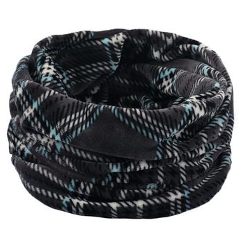 Soft Knitted Scarves Neck Warmer Winter Outdoor Sport Windproof Thermal Loop Scarf Thick Infinity Scarf pure color knitted infinity scarf