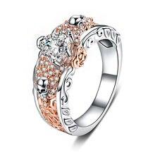 Горячая Распродажа обручальное кольцо из австрийского розового