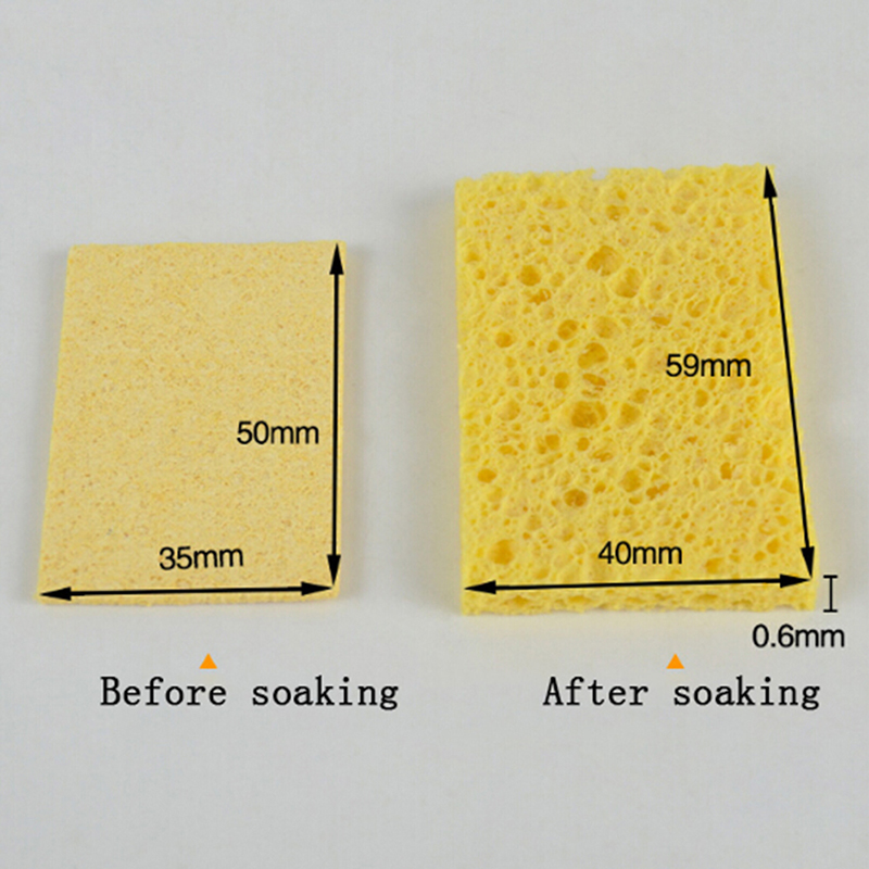 Hot! 10pcs/lot High Temperature Resistant Heatstable Thick Replacement Sponges Soldering Iron Cleaning Welding Acc