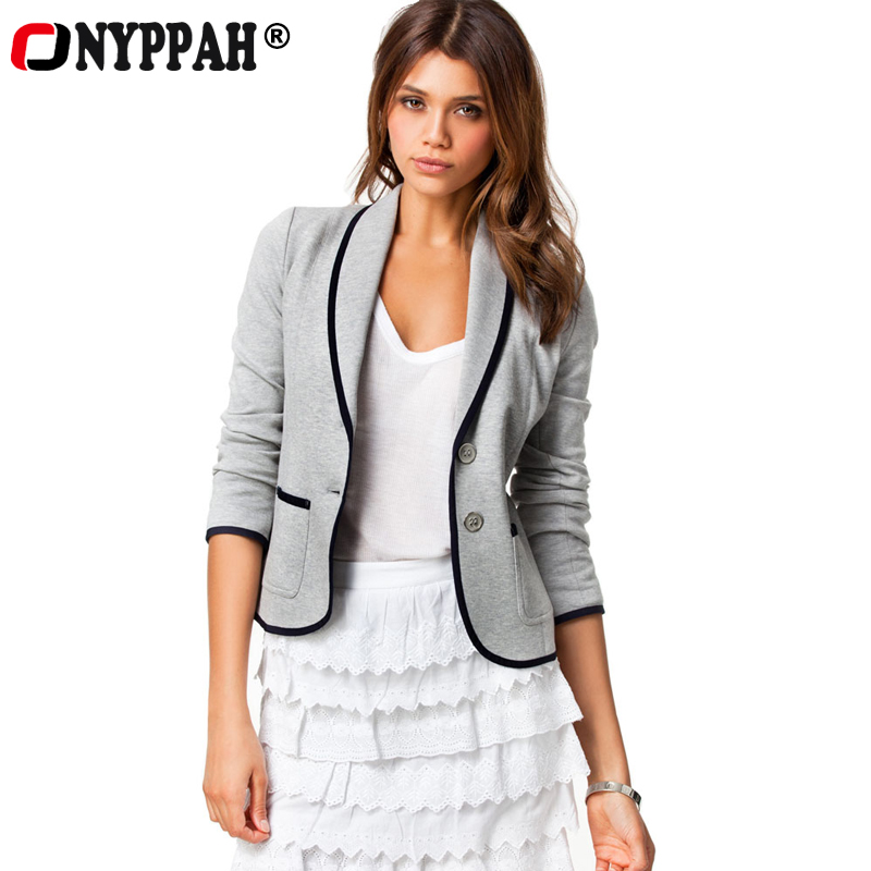 2016 New Sales Women Blazer Clothing Lady Fashion Office Suits Coat Long Sleeve Slim Pocket WearSpring Autumn Out Wear BL-01