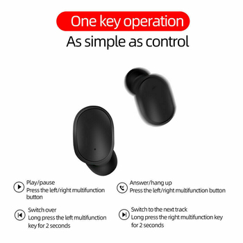 Wireless Earphones E6S TWS Wireless Earbuds In Ear Sports Headset With Mic Bluetooth-compatible5.0 Earphones For Mobile Phone 5
