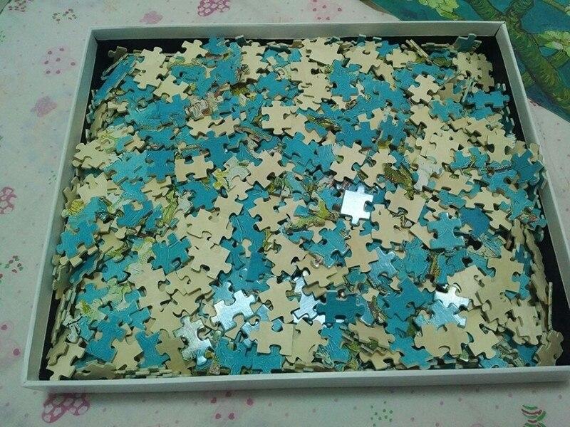Деревянные головоломки 2000 штук всемирно известные картины головоломки игрушки для взрослых детей Детская Игрушка коллекция украшений для ... - 3