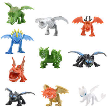 10/12pcs/set Kid Toys How To Train Your Dragon Toothless Action figure PVC Cartoon Movie Collection Model For Children Gifts - DISCOUNT ITEM  18% OFF All Category