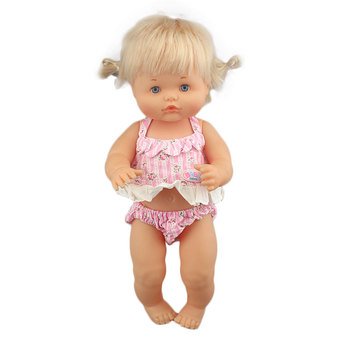 Nowe piękne Bikini Fit 40cm 41cm lalka Nenuco Ropa y su Hermanita fioletowe długie rękawy T-shirt fioletowe kropki spodnie z kapeluszem tanie i dobre opinie Cloth Unisex Moda Akcesoria Suit Akcesoria dla lalek