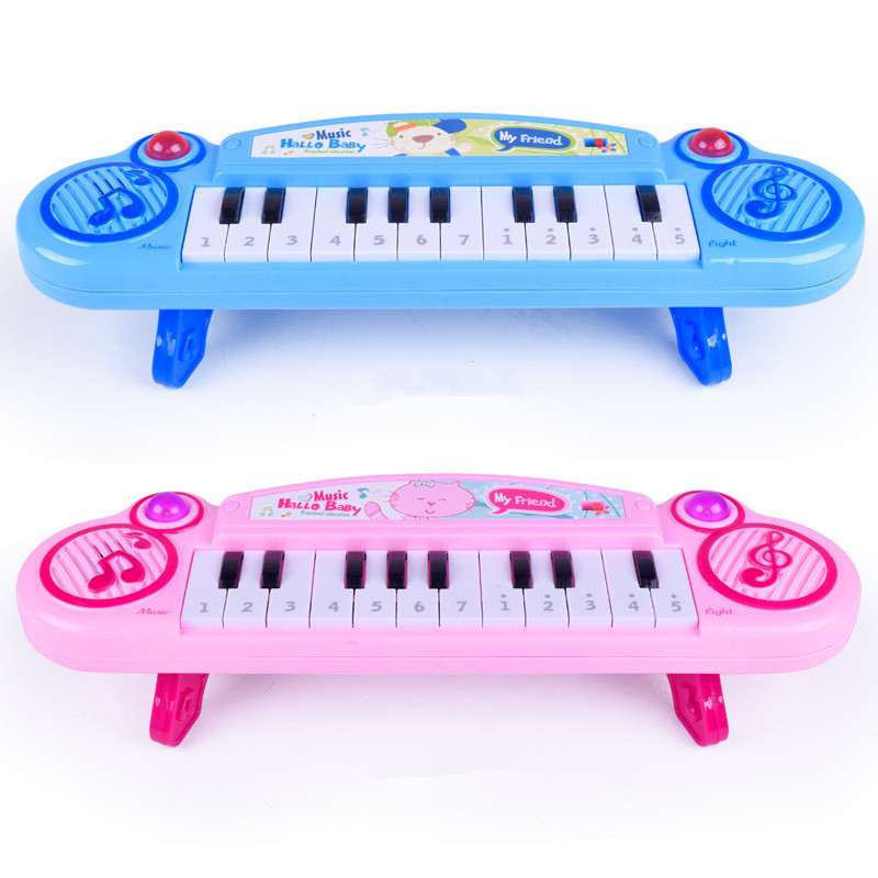 Children Electric Electronic Keyboard Infants Teaching Aids Infant Instrument Stall Early Education Toy Microphone Music Piano