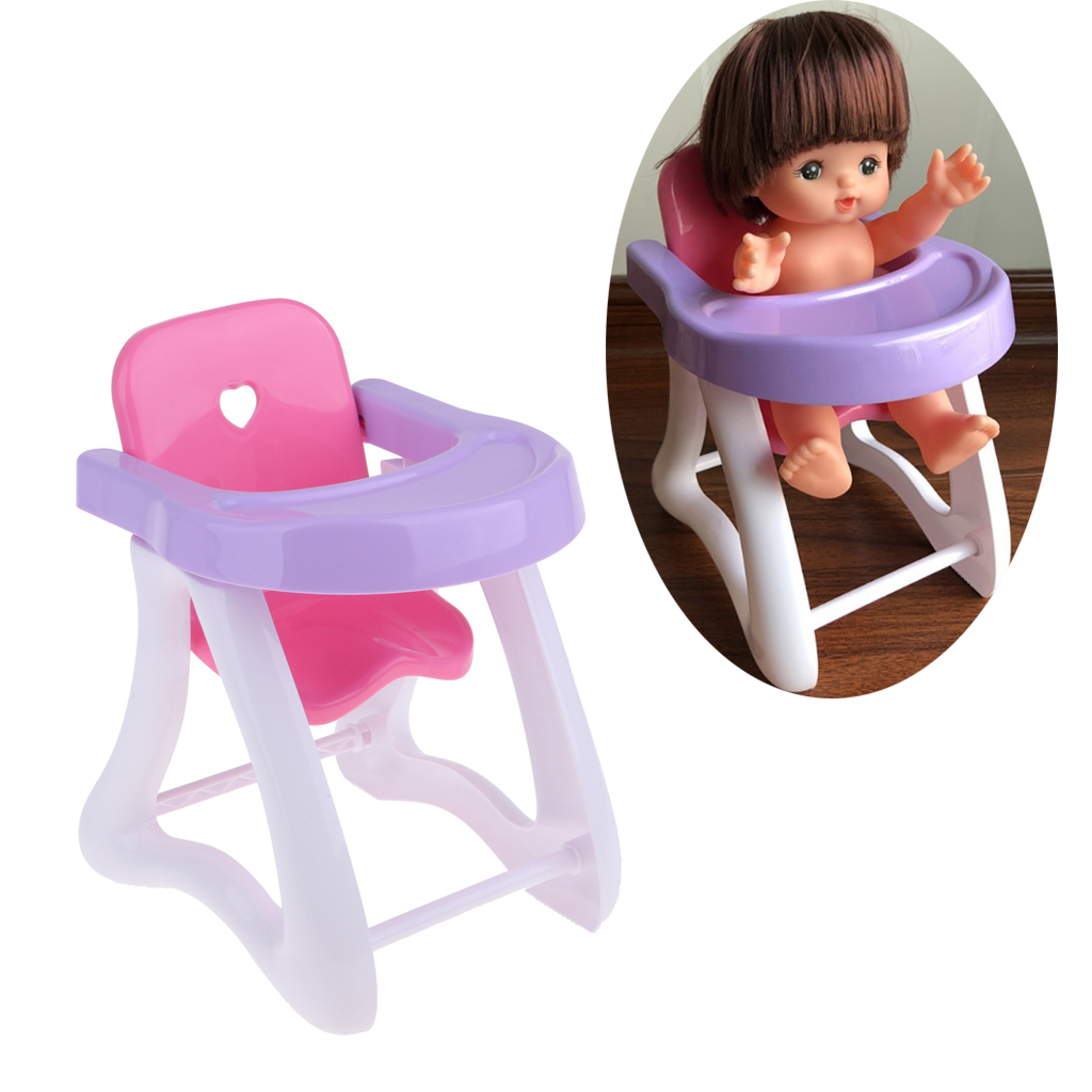 """Simulation Baby High Chair ABS Furniture Toy for 8-12/"""" Reborn Doll Accessory"""
