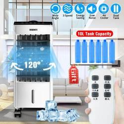 10L 220V Tank Hause Wasser Mobile Tragbare Klimaanlage Klimaanlage Fan Luftbefeuchter Kühler ~ Timer ~ fernbedienung + 6 eis kristall