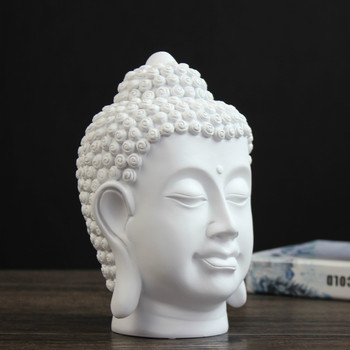 Chinese Zen Buddha Head Decoration Resin Home Decoration Crafts Living Room Decoration Accessories Gifts