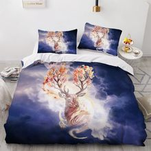 Simple Bedding Sets 3D Plant Flower Duvet Quilt Cover Set Comforter Bed Linen Pillowcase King Queen Full Double Home Texitle(China)