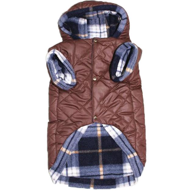 Winter Hooded Jacket Double Layer Fleece Coat French Bulldog