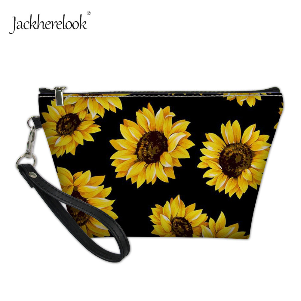 CLveg Coin Purse Card Package Coin Leather for Women Printing Series Sunflower