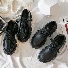 Stile britannico piccole scarpe di cuoio delle donne di aumento di 2020 nuovo stile college selvaggio autunno spessa spugna fondo scarpe torta