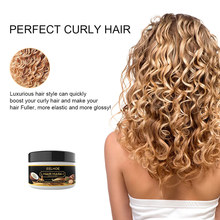 Eelhoe 50ml óleo de coco cuidados com os cabelos encaracolados máscara lofting creme reparos raízes danificadas e nutre o cabelo tratamentos de couro cabeludo tslm1