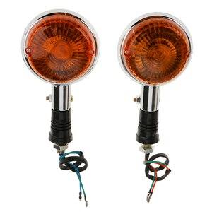 Image 5 - Motorcycle Turn Signal Light Indicator Amber Blinker Side Marker Lamp For Yamaha V MAX1200/V star/Virago XVS400/650/1100 Etc
