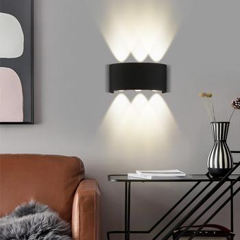 Zewnętrzne lampy ścienne LED 4 6 8 10W IP65 wodoodporne zewnętrzne oświetlenie naścienne Led ogród kinkiet oświetlenie ganku oświetlenie wewnętrzne i zewnętrzne tanie i dobre opinie CANMEIJIA CN (pochodzenie) Szczotkowana ze stali nierdzewnej SM2835 Rectangle 85-265 v 1 year Z aluminium Nowoczesne Żarówki LED